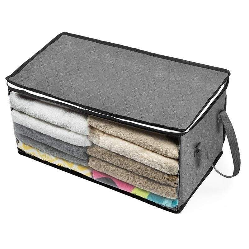 1/2/3pcs Non-woven Foldable Storage Box Wardrobe Beddings Quilt Clothes Organizer Bag Dust Proof Moisture proof Wardrobe Clothing Storage Box