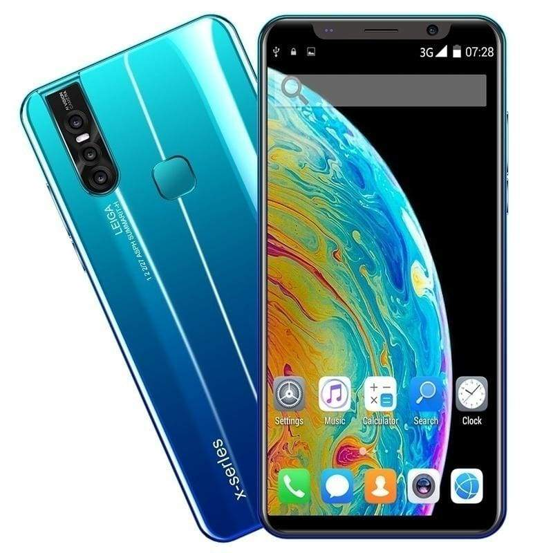 Smartphone Android with 4+64 GB Large Memory 5.8 Inch Screen Support Face/Fingerprint Unlock Dual SIM Celulares Mobile Phones