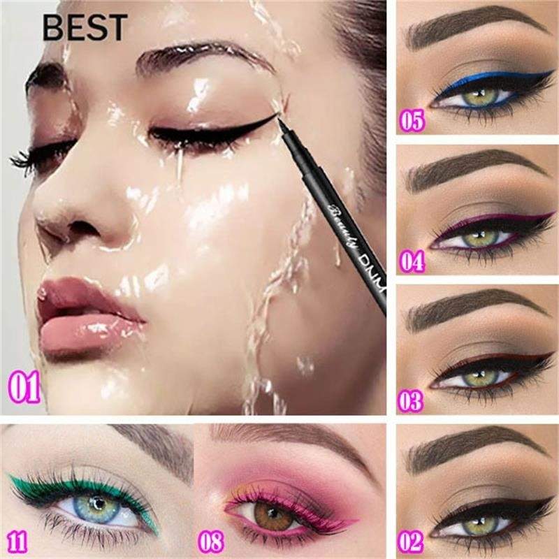 12 color Eyeliner durable waterproof, no dizzy eye liner.