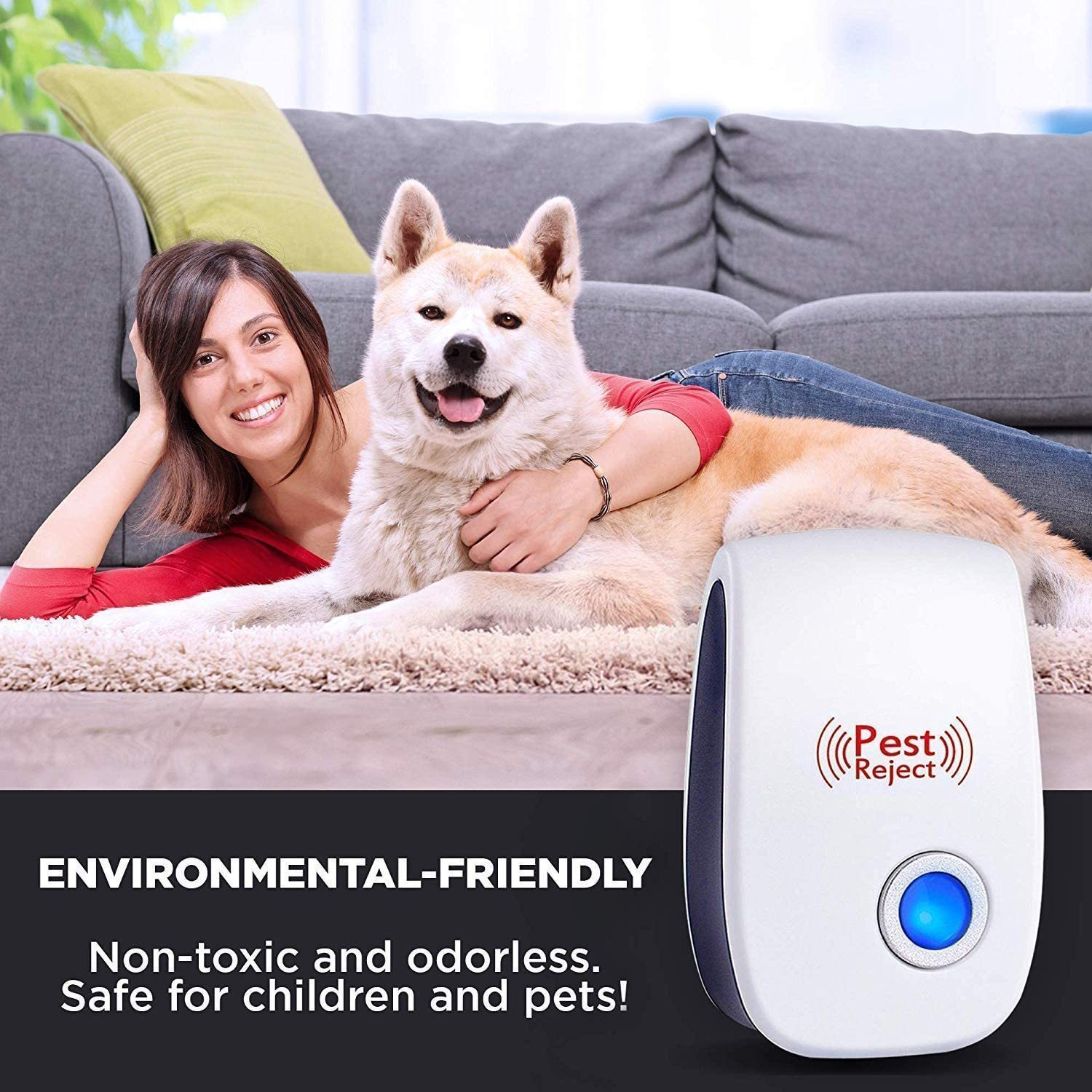 2020 Upgrated Pest Control Ultrasonic Repellent