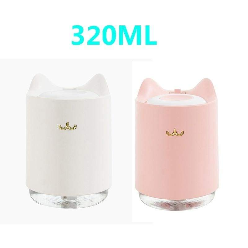 Home Air Humidifier 3000ML/320ML  Double Nozzle Cool Mist Aroma Diffuser with Coloful LED light Heavy fog Ultrasonic USB Humidificador