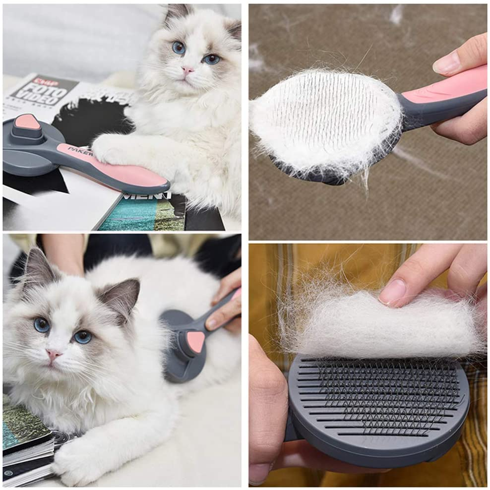 Self-Cleaning Retractable Pet Brush