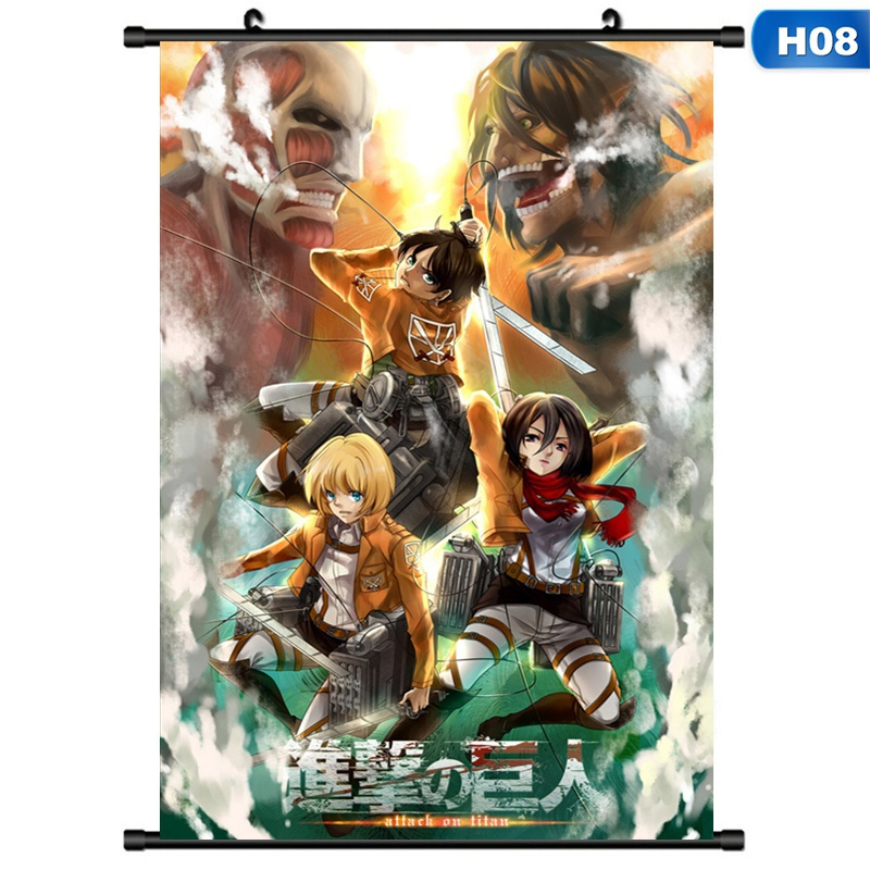 Attack On Titan Wall Poster Scroll Home Decor Cosplay Poster