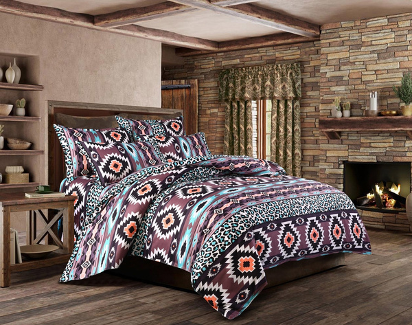 NEW Fashion Indian Reversible Quilt Cover Flower Coverlet Cover  Bedding Bedclothes Plain Boho Duvet Cover Set Twin/Full/Queen/King