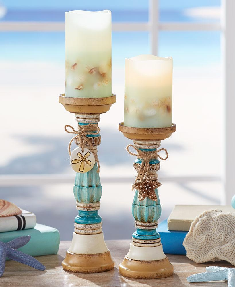 Sets of 2 Seaside Candleholders or Candles
