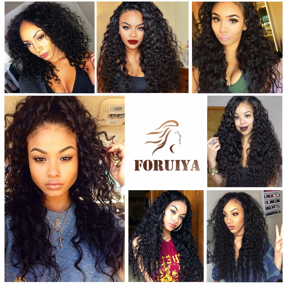 Virgin Peruvian Water Wave Hair 5 Bundles With Closure 100% Unprocessed Remy Water Wave Human Hair Weave Extension Natural Black
