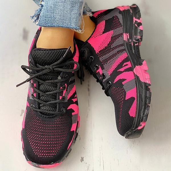 Zoeyootd Platform Breathable Lace-Up Climbing Sneakers