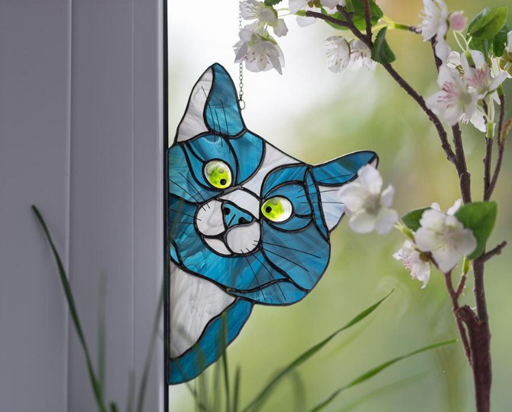 (WOMEN'S DAY PROMOTION - SAVE 50% OFF) Cat Suncatcher Perfect Gift For Cat Lovers-Buy 2 Get Extra 20% OFF