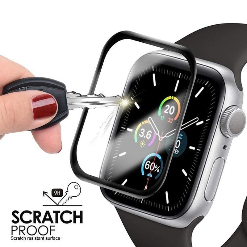 For IWatch Series 5 4 3 2 1 3D Curved Screen Protector Tempered Glass Protective Film for IWatch 44mm 42mm 40mm 38mm