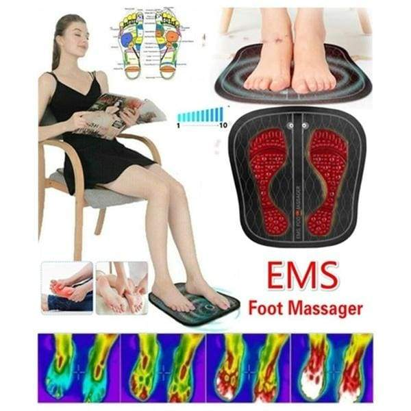 New EMS Foot Massager Pulse Massager Multi-Modes And EPS Booster Promoting Foot Leg Blood Circulation Muscle Stimulator Relieve Fatigue Foot Care