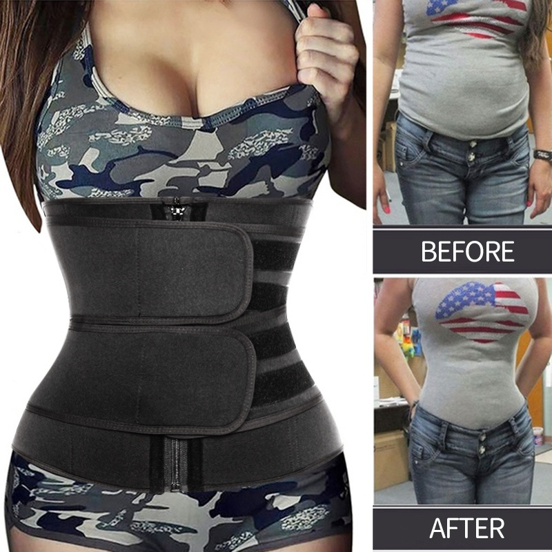 Waist Trainer Women Slimming Sheath Tummy Reducing Shapewear Belly Shapers Sweat Body Shaper Sauna Corset Workout Trimmer Belts