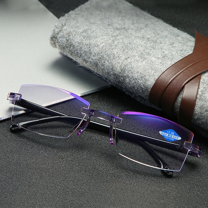 FoldFlat ™Sapphire high hardness anti-blue progressive Far And Near Dual-Use Reading Glasses