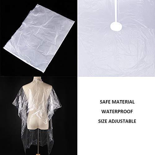 1000pcs Health Care Barber Wai Cloth Perm Hair Salon Haircut Wai Hairdressing Cape Disposable Cloth Shawl Disposable PE Apron
