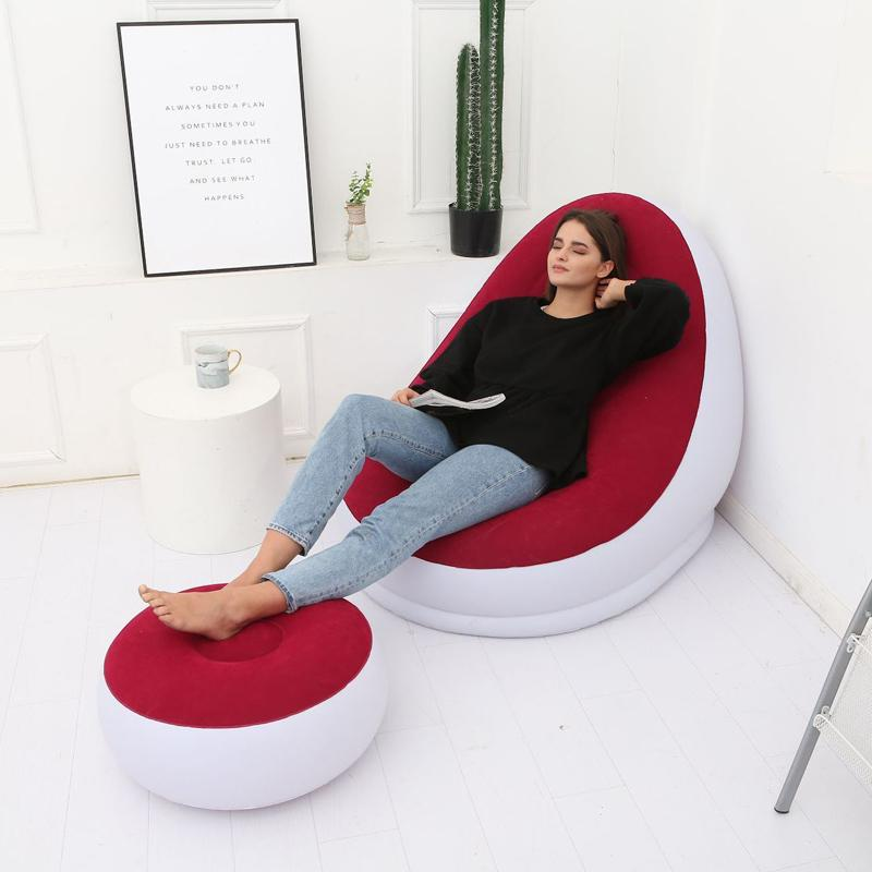 Lounger Sofa for Indoor or Outdoor Inflatable Deck Chair