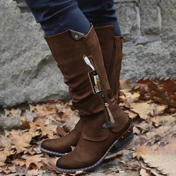New Trend Mid Wallet Pocket Boots