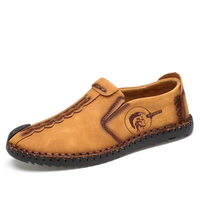 Mens slip on ankle boots casual driving shoes for men