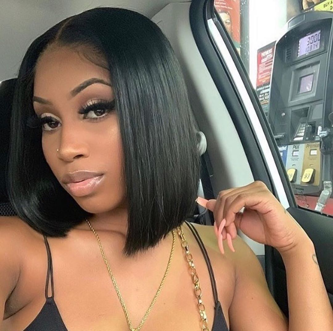 Lace Front Wigs Yaki U Part Wig Frontal Bob Middle Part 360 Lace Frontal With Bangs