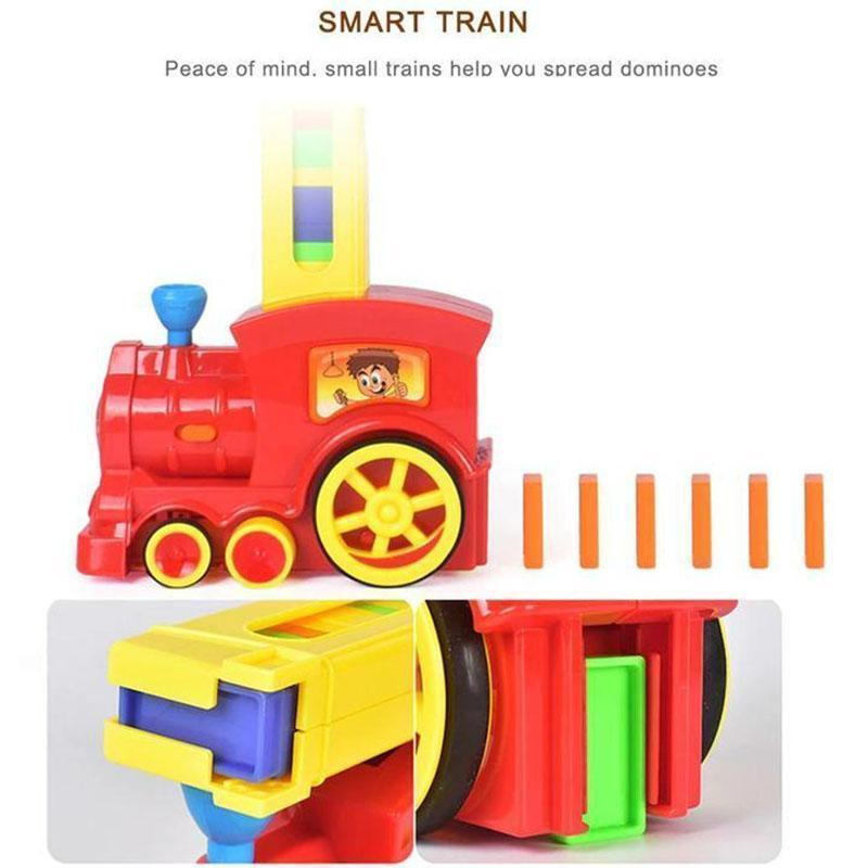 65% OFF-Children's Educational Toys Automatically Start Dominoes Small Train