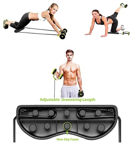 👉COD👈Abdominal Muscle Wheel Roller Pull Rope