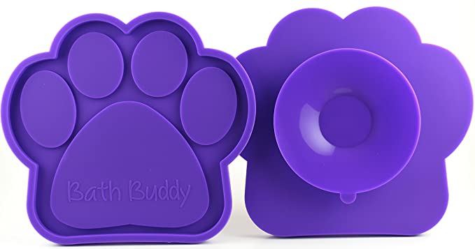 Bath Buddy for Dogs - The Original Dog Bath Toy - Makes Bath Time Easy, Just Spread Peanut Butter and Stick