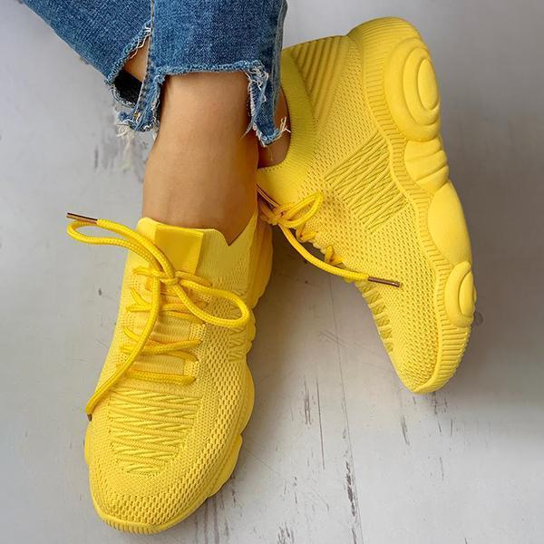 Upawear Non-Slip Knitted Breathable Lace-Up Sneakers