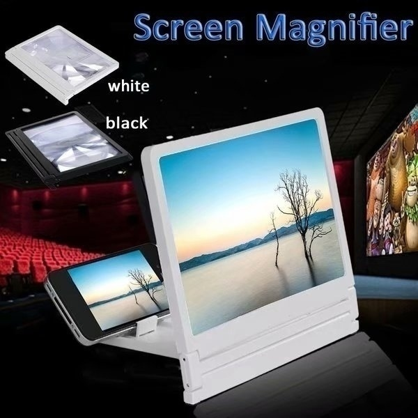 1Pcs 8'' Mobile Phone Screen Magnifier Eyes Protection 3D Video Screen Amplifier