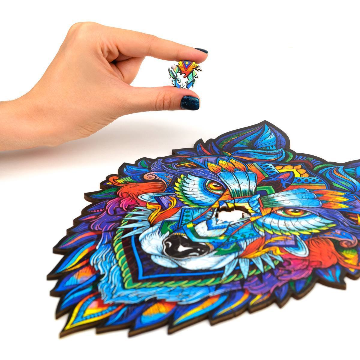 Wooden Jigsaw Puzzle Majestic Wolf-1