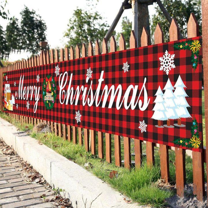 (BUY 1 GET 1 FREE)🧡 OUTDOOR BANNER FLAG PULLING   MERRY CHRISTMAS