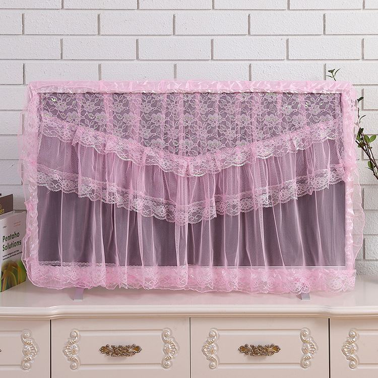 Lace LCD TV Hanging Dust-proof Cover