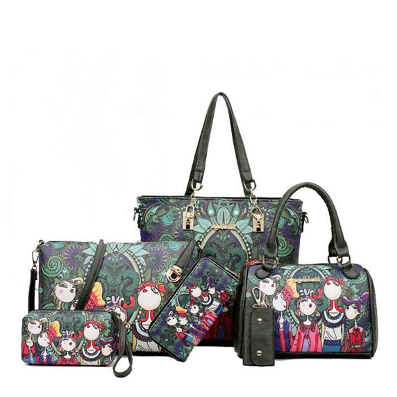 Green Forest British-branded Six-Piece Bags