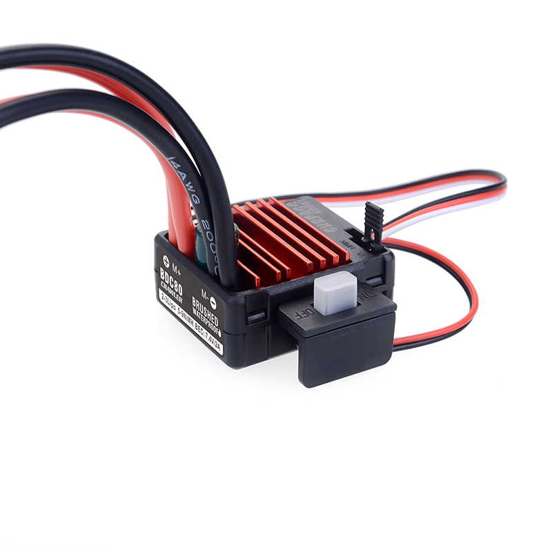 SURPASSHOBBY Brushed Electronic Speed Controllor ESC 25~150A for RC 5-Slot 550 Brushed Motor Traxxas TRX-4 Axial SCX10 D110 D90 1/10 Car