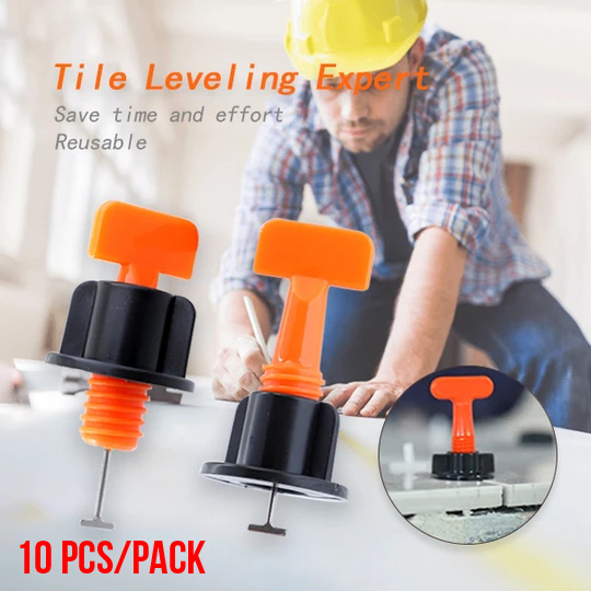 (💥New Year Flash Sale💥-48% OFF)Reusable Tile Leveling System 10pcs/pack(Buy 10 packs get 7 packs free+FREE shipping)
