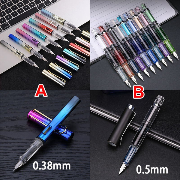 New Ink Nib Fountain Pen  Writing Signing Calligraphy Pens Color Gradient Aurora Fountain Pen Gift Box Office Stationary Supplies