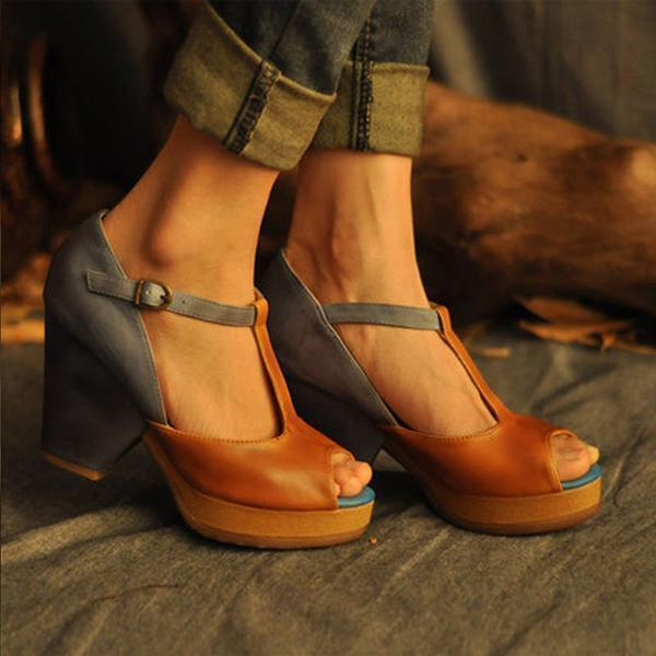 Faddishshoes Open Toe Artificial Leather Summer Sandals