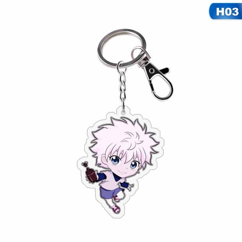 1 Pc Anime Hunter X Hunter Keyring Killua Freecss Bag Figures Pendant Accessories Keyring
