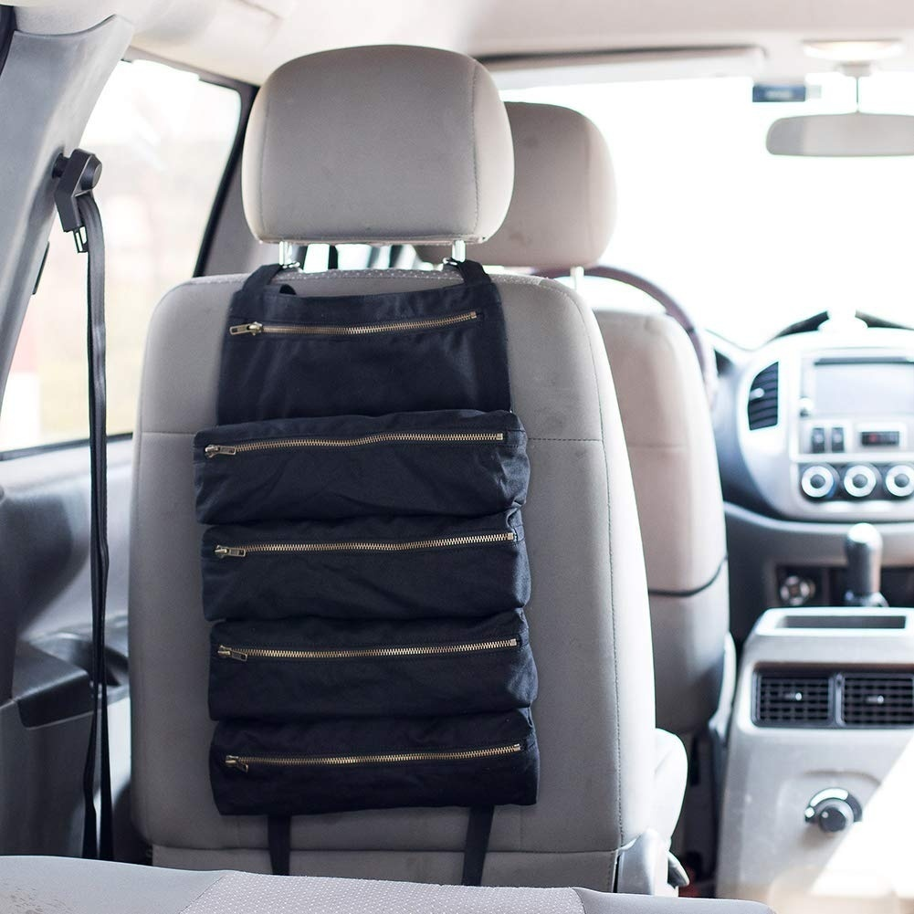 Multifunctional Tool Roll Handy Small Tools Tote Carrier Car Back Seat Storage Bag