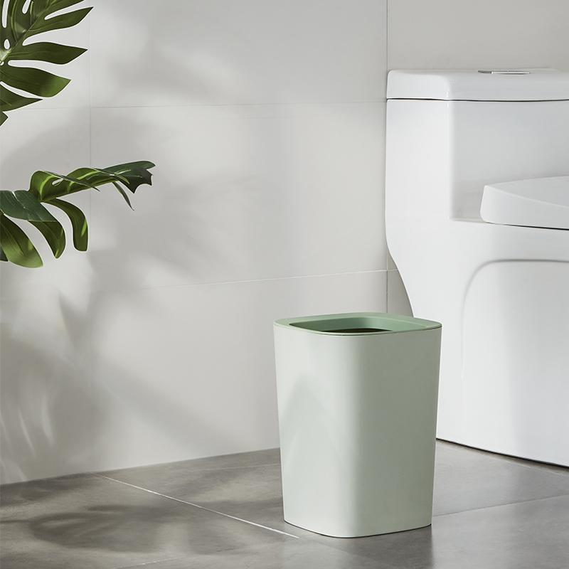 household plastic eco-friendly dustbin trash can for bathroom/office use trash can-1.20