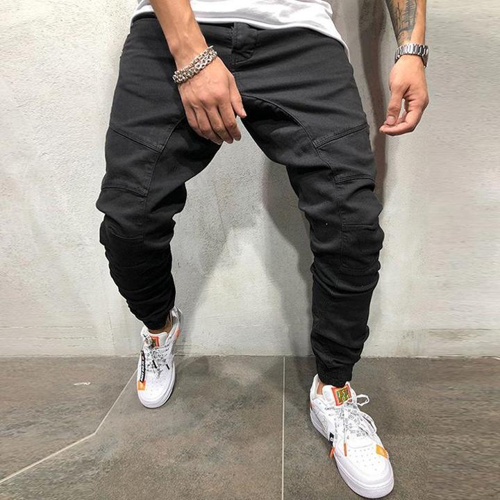 Loose Beam Mouth Pants Men's Pants