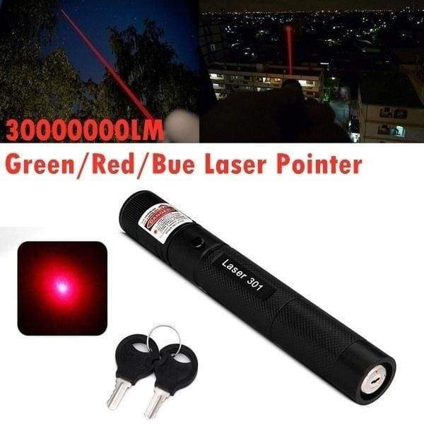 Durable Green/Red/Bue/Purple Laser Pointer Pen G301 532nm Visible Beam Burning Lazer Flashlights Laser +18650 Battery+ Charger Set