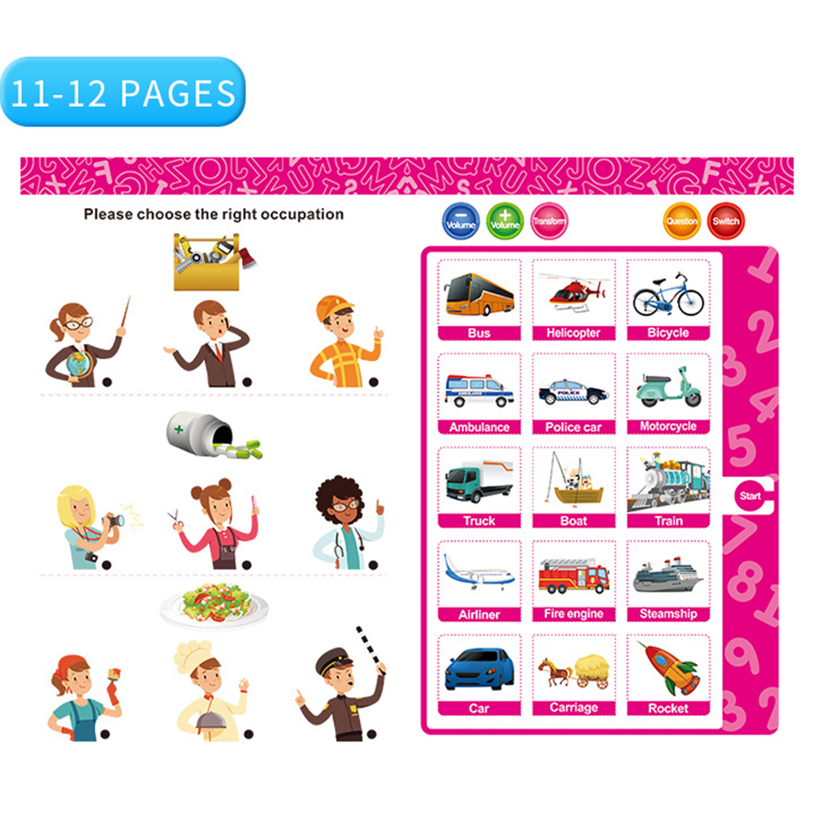 🌟Christmas Hot Sales🌟SMART TALKING BOOK FOR KIDS EARLY LEARNING DEVELOP