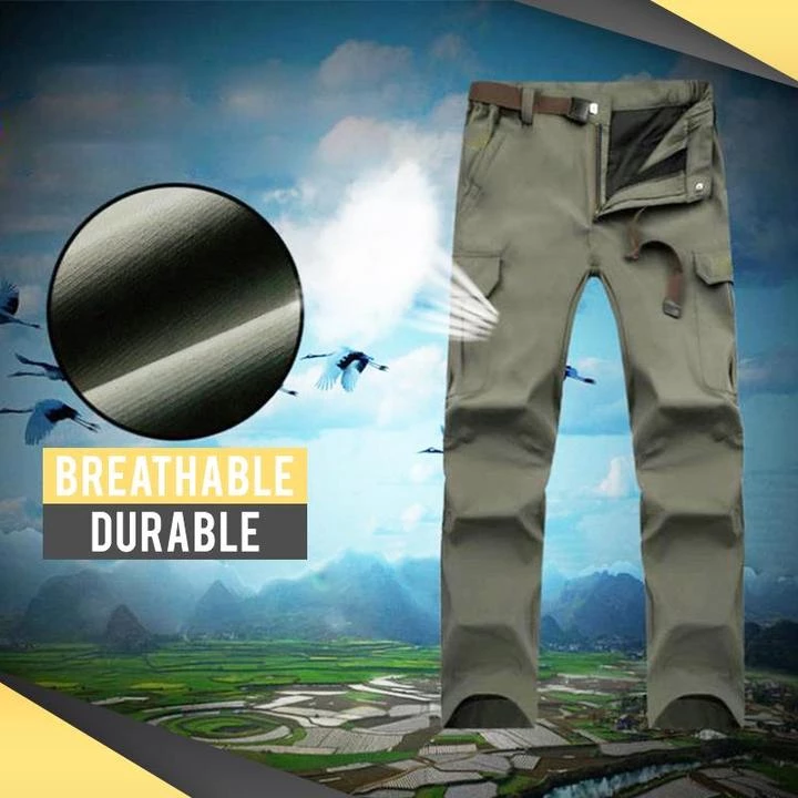 Last day pre-sell promotion-60% OFF-Tactical Waterproof Pants- (Buy 2 can Get a free Army Knife)