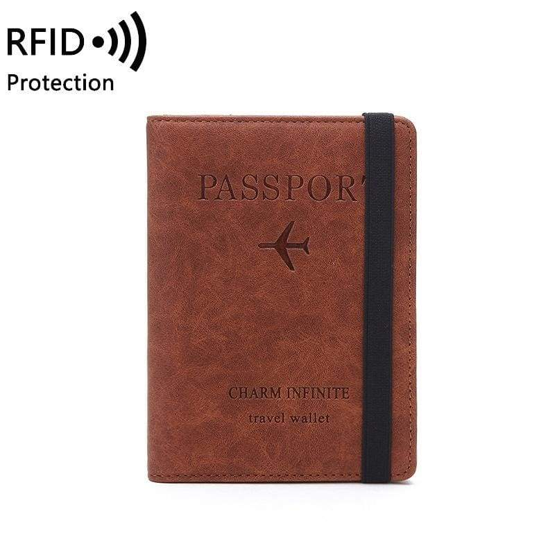 RFID Passport Bag Multi-function Document Package Portable Travel Ultra-thin Passport Holder