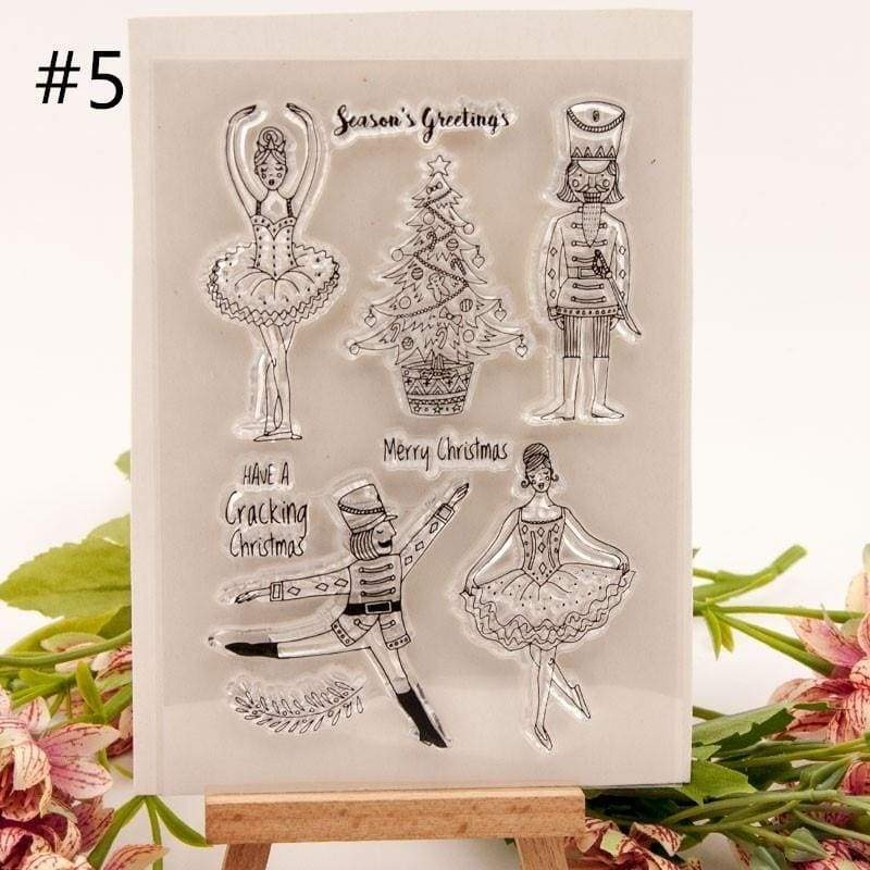 Just for You Merry Christmas Transparent Clear Stamps for Scrapbooking DIY Silicone Seals Photo Album Paper Maker Decor Crafts