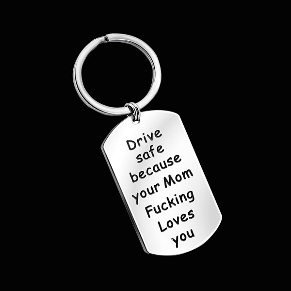 Drive Safe Keychain🎁Fun Mom Gift🎁