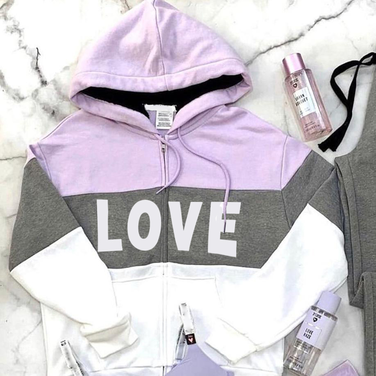Sporty Basics Cotton,Polyester Long Sleeve Hooded Floral with Suit(Underwear is not included)