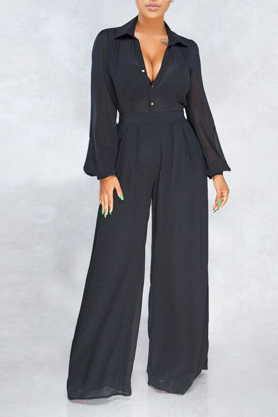Fashion women's clothing loose fit slim casual wide-leg chiffon suit