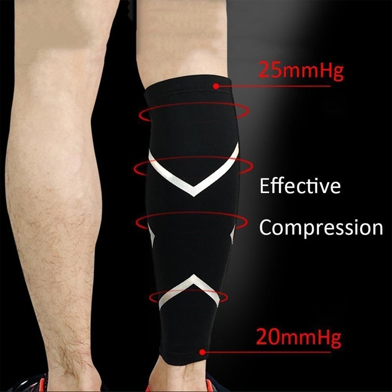 Tcare 1Pcs Calf Compression Sleeves For Men & Women - Leg And Shin Compression Sleeves for Runners, Cyclist - Shin Splint, Blood Circulation And Recovery Aid