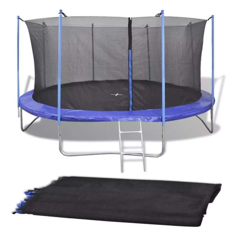 vidaXL PE Black Safety Net for 4.57 m Round Trampoline