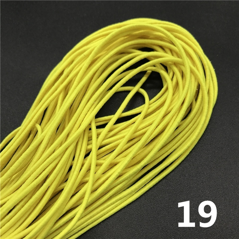 5yards 2mm Colorful High-Elastic Round Elastic Band Round Elastic Rope Rubber Band Elastic Line DIY Sewing Accessories
