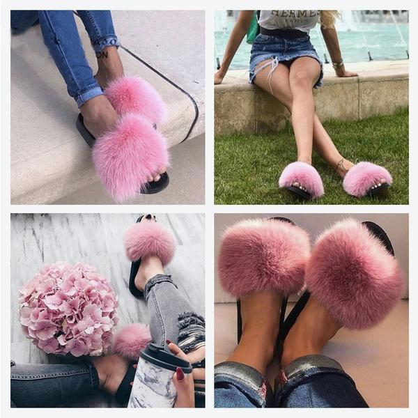 BUY 2 Free Shipping🔥Faux Fur Luxury Slides Slippers🔥</br>BUY 3 GET 1 FREE!